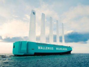 El primer buque Ro-Ro propulsado con viento surcará los mares en 2025