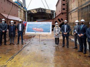 Avanza la construcción del primer buque de suministro de GNL que se construye en un astillero español